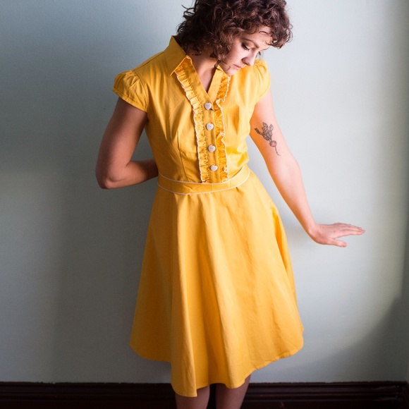 Yellow Vintage Dresses